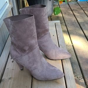 JustFab booties, Gray color, 8W